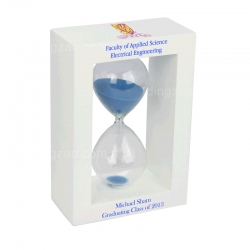 White Wooden Hourglass (15cm)